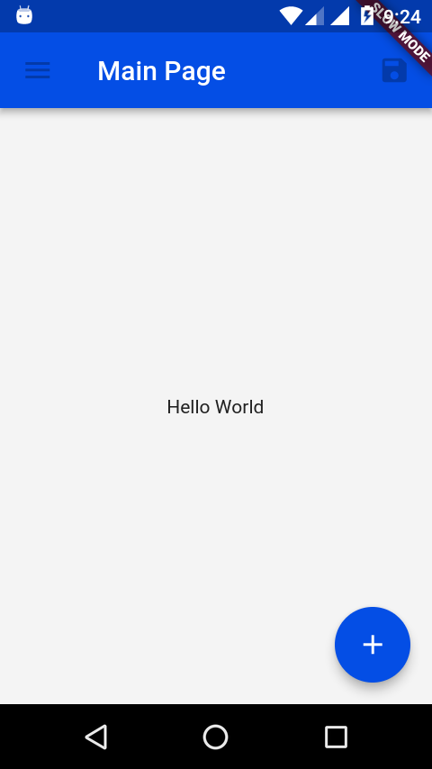 Flutter Hello World