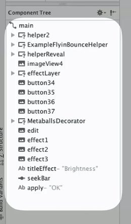 component Tree in Android Studio